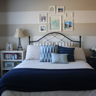 Guest Room Makeover – Wall Stripes