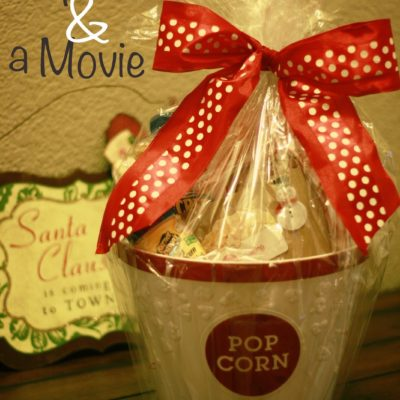 12 Days of Homemade Holiday Gifts Day 12 – Popcorn & A Movie Basket