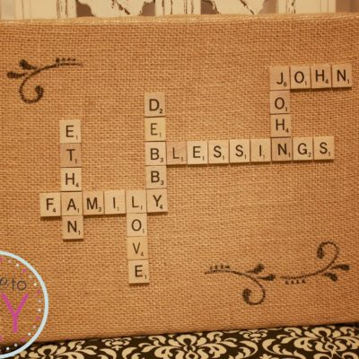 Scrabble Tile Wall Hanging