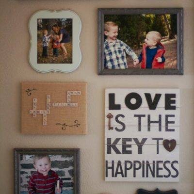"""The """"love"""" gallery wall"""