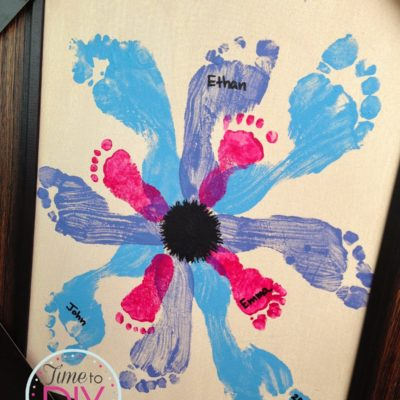 Mother's Day Gift: Footprints Flower