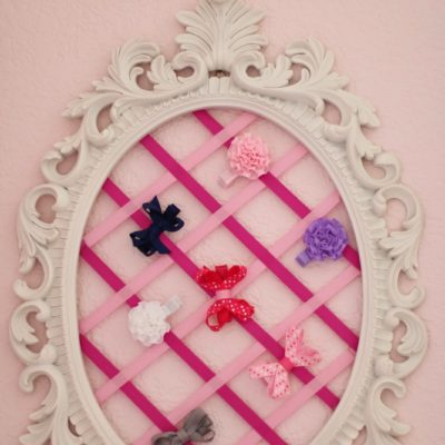 Nursery DIY: 2 Barrette Holders