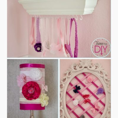 Nursery DIY: Hair Accessory Holders