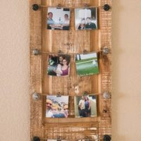 Door turned picture hanger
