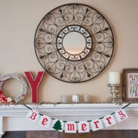 Christmas Mantle and Menu
