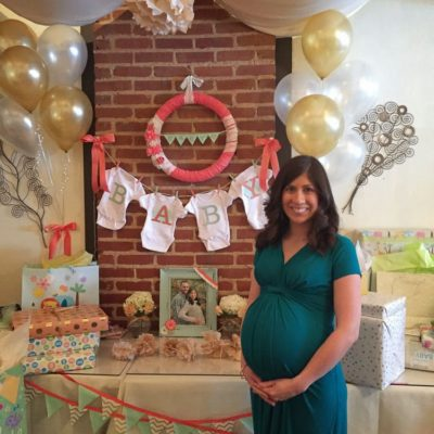 Coral, Mint, and Gold Baby Shower