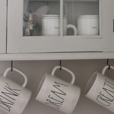 Coffee Mug Display Cabinet