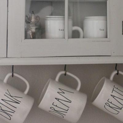 Coffee Mug Display Cabinet