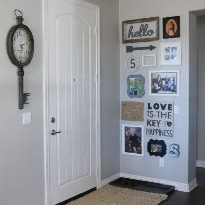 Entryway Gallery Wall