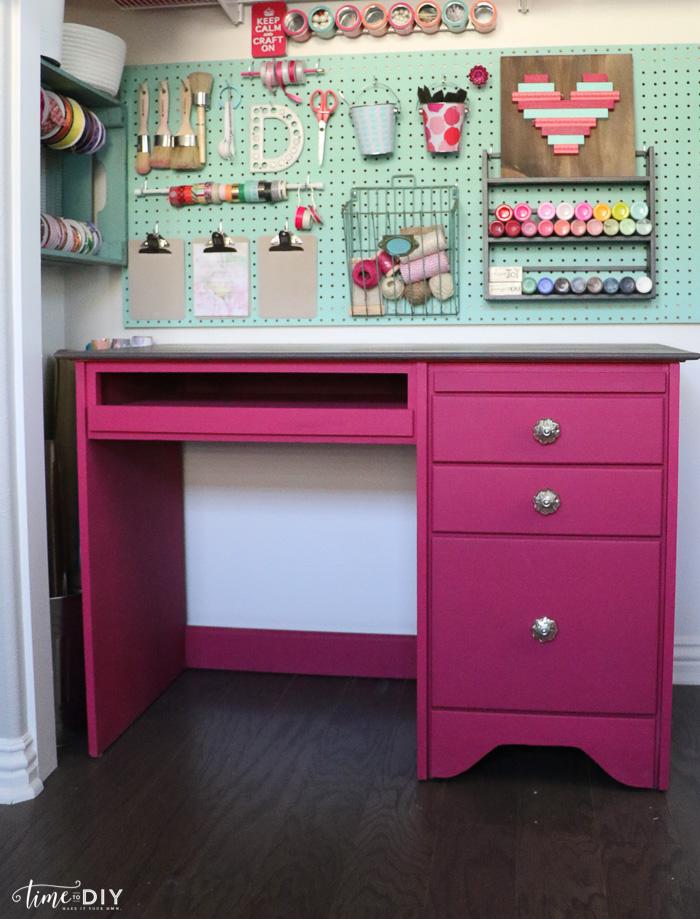 Craft Desk Makeover