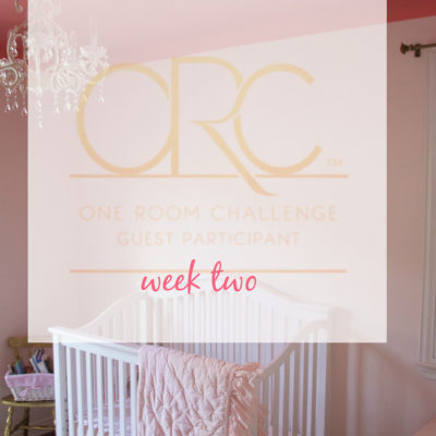 Toddler Room Painting {One Room Challenge, Week 2}