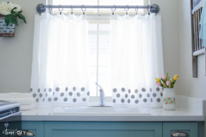 DIY Polka Dot Curtains