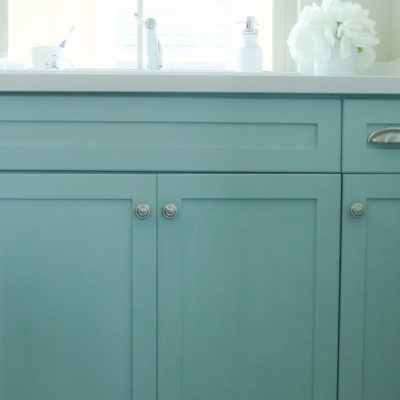 Painting Laundry Room Cabinets