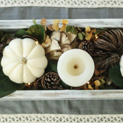Neutral Fall Centerpiece, Take Two