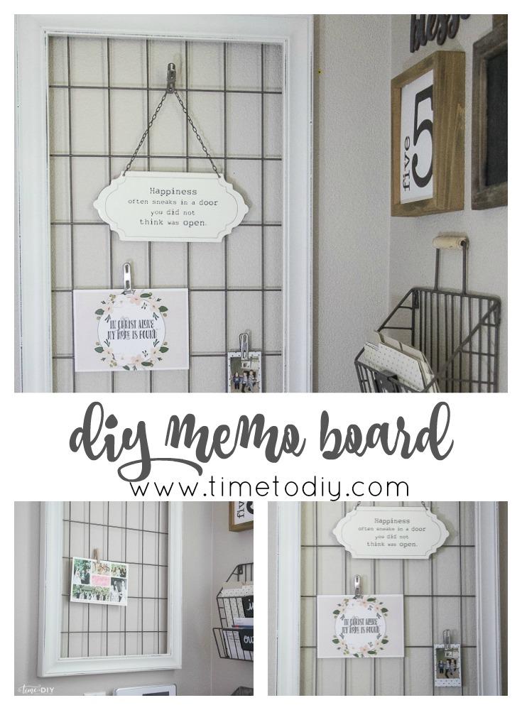 Easy Diy Memo Board Pretty Healthy House