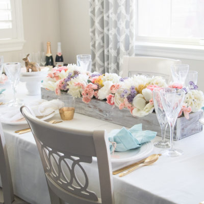 Easter Tablescape and Menu