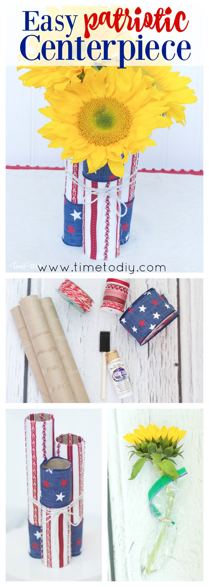 patriotic centerpiece tutorial
