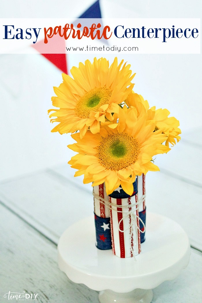 Easy patriotic centerpiece