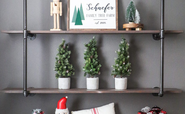 Christmas Decor Shelfie Styling Ideas