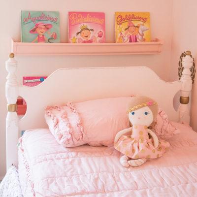 Chippy Glam Bed Frame Makeover