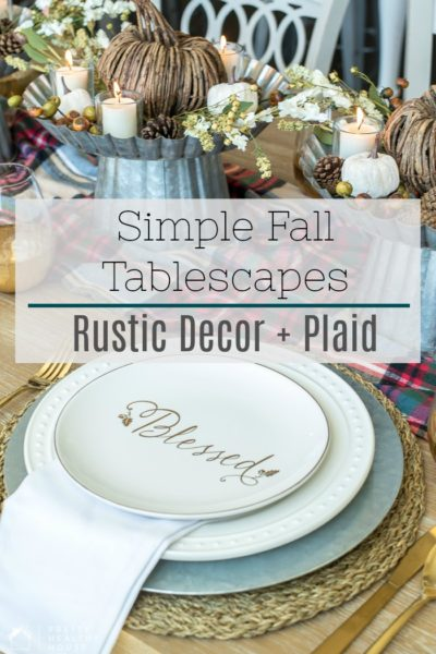 Fall Table Decorating Ideas Using Rustic Decor