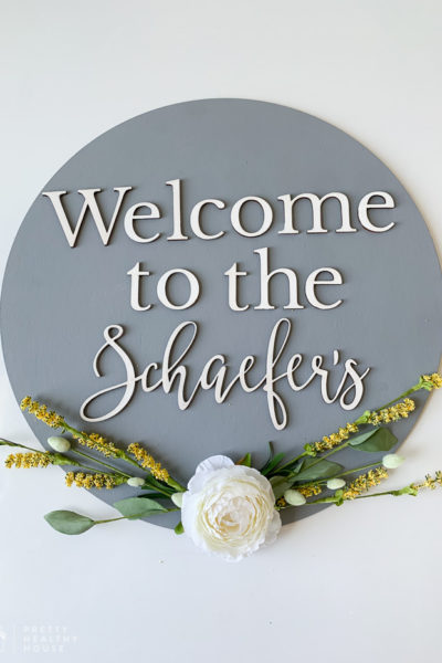 CraftCuts Personalized Welcome Sign